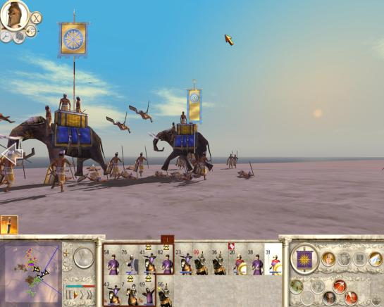 Rome 2 phalanx gameplay. An elephant charges in Rome 2 Total War