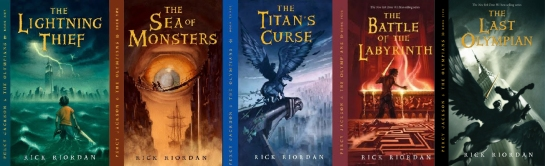 Percy Jackson series books covers