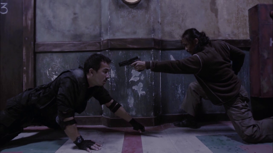 An image from the martial arts film The Raid