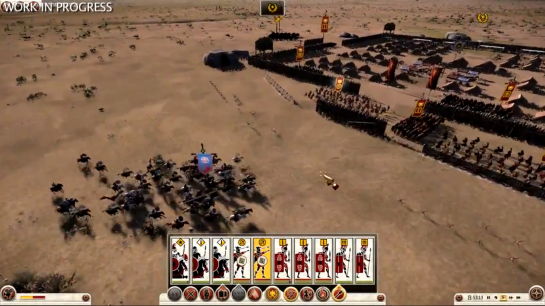 A screenshot of leaked Rome Total War 2 footage